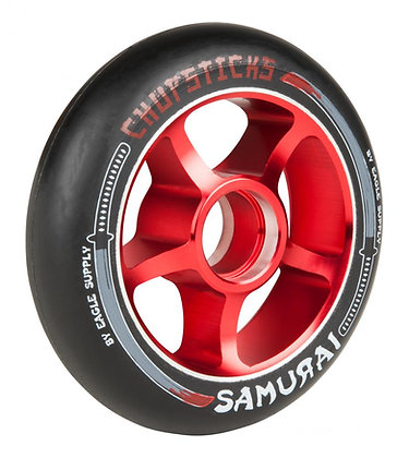 Chopstick Samurai Wheel 100mm - Black/Red