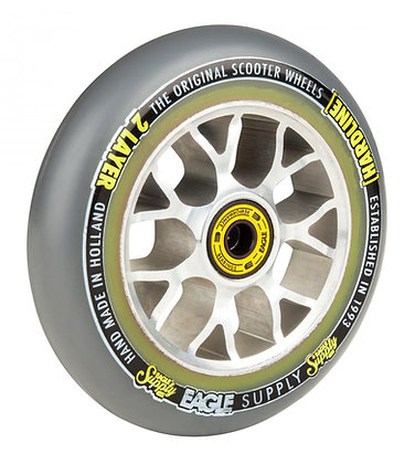 Eagle Supply Wheel 115mm H/Line 2/L X6 Sewercaps - Silver/Grey