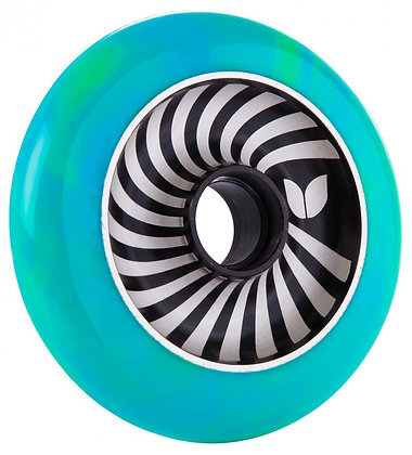 Blazer Pro Wheel 100mm Vertigo Aluminium Swirl - Green/Blue