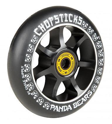 Chopstick Panda Bear Wheel 100mm - Black