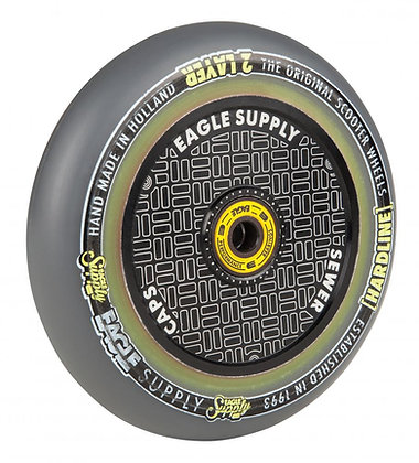 Eagle Supply Wheel 115mm H/Line 2/L Hlw tech Sewercaps - Black/Grey