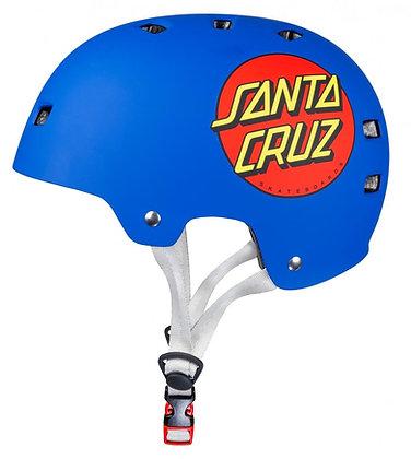 Bullet x Santa Cruz Helmet Classic Dot - Matt Blue