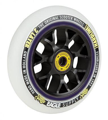 Eagle Supply Wheel 115mm H/Line 2/L X6 Snowballs - Black/White