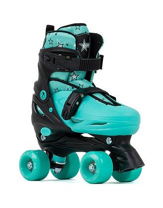 SFR Nebula Adjustable Quad Skates - Black/Green