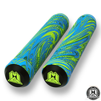 Mgp Swirl Grind Grips 180mm - Lime/Blue