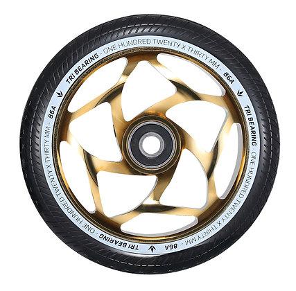 Blunt Envy Tri Bearing Wheel 120mm x 30mm - Gold/Black