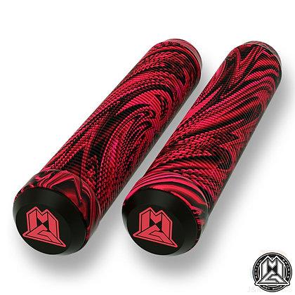 Mgp Swirl Grind Grips 180mm - Red/Black