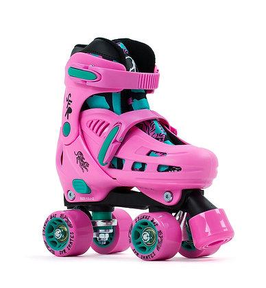 SFR Storm IV Adujustable Quad Skates - Pink/Green
