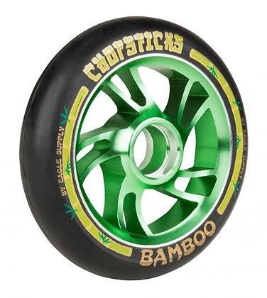 Chopstick Bamboo Wheel 110mm - Black/Green