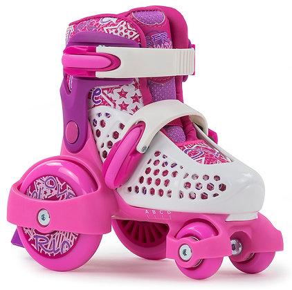 Sfr Adjustable Stomper Quad Skates - Pink/White