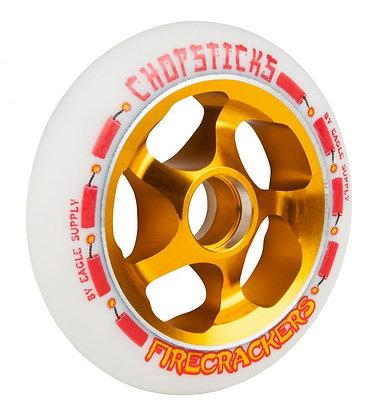 Chopstick Firecracker Wheel 110mm - White