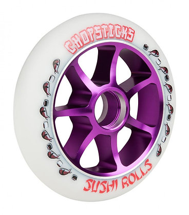Chopstick Sushi Rolls Wheel 110mm - White/Purple