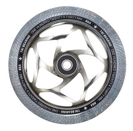 Blunt Envy Tri Bearing Wheel 120mm x 30mm - Chrome/Clear