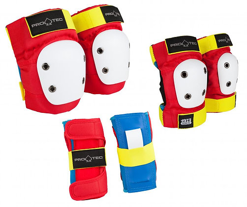 Pro-Tec Street Gear Junior 3-Pack Pad Set YS Youth - Retro