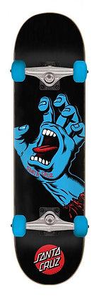 Santa Cruz Screaming Hand Complete Skateboard 8.0'' - Black