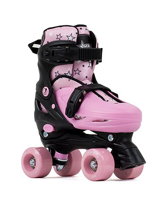 SFR Nebula Adjustable Quad Skates - Black/Pink