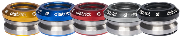 "District S-Series Headset Integrated 1 1/8"" - Blue"
