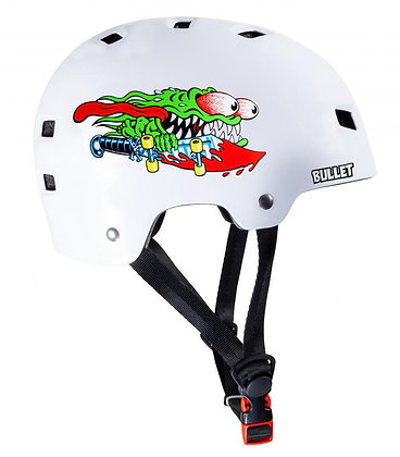 Bullet x Santa Cruz Helmet Slasher Youth 49-54cm - Gloss White