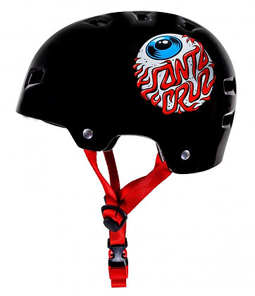 Bullet x Santa Cruz Helmet Eyeball Youth 49-54cm - Gloss Black