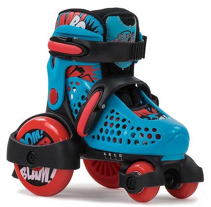 Sfr Adjustable Stomper Quad Skates - Blue/Black