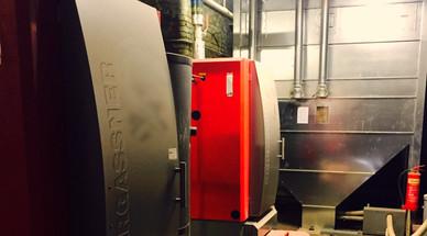 410kWth Pellet Biomass Boiler - Rufflette Ltd - Textiles
