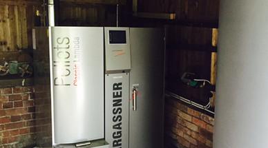 45kWth Pellet Biomass Boiler - Mr.Baker, Audlem, Cheshire