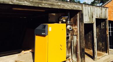 45kWth Log Biomass Boiler - Mr.Griffiths, Nantwich, Cheshire