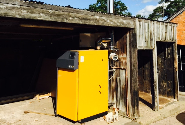 45kWth Log Biomass Boiler - Mr.Griffiths, Nantwich, Cheshire