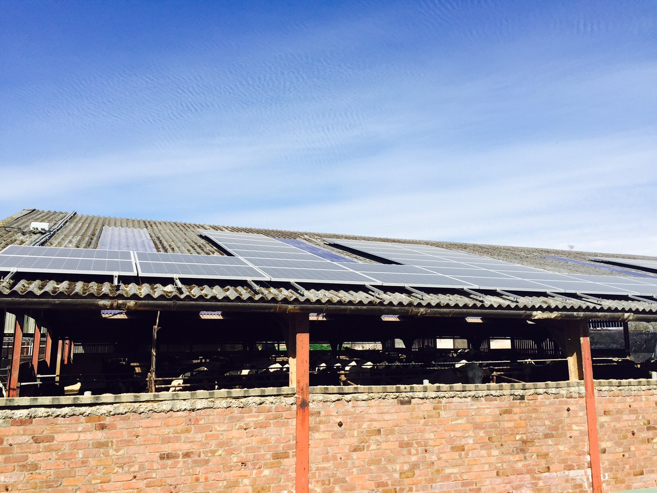 30kWp - Mr. Dodd, Dodleston Hall Dairy Farm, Cheshire