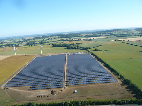 Solar Farm labelled for reuse commercial