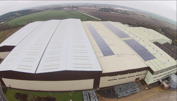 Commercial Solar Panels in North West 375kWp - Clipper Logistics, Nottinghamshire