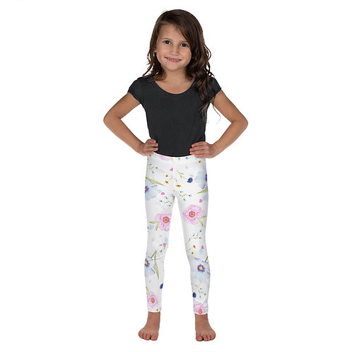 Kid's Leggings Floral White best for Winter