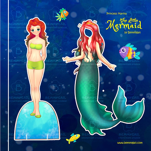 The Little Mermaid Princess Marina Paper Doll Printable
