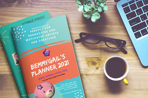 Bemmygail's Planner 2021 Printed Book Softcover Hardcover Monthly Weekly Daily