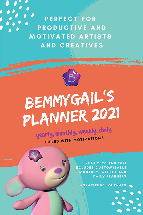 Bemmygail's Planner 2021 Ebook Digital Download