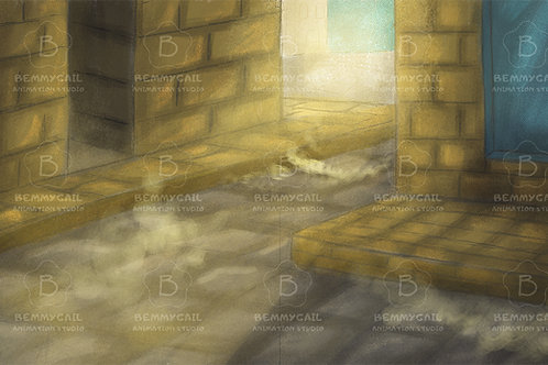 Dusty Streets Medieval Illustration Background