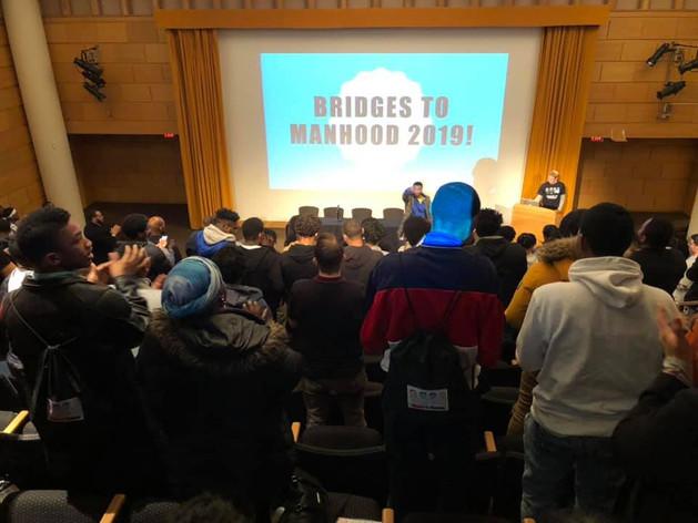 Bridges to Manhood great auditorium shot