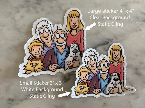 Large Pickle's Sticker