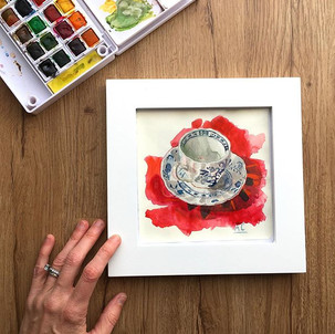 Navy Teacup