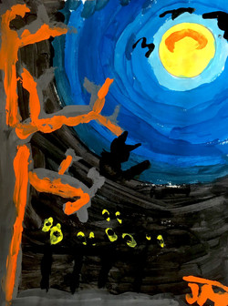 Spooky Sky Value Painting