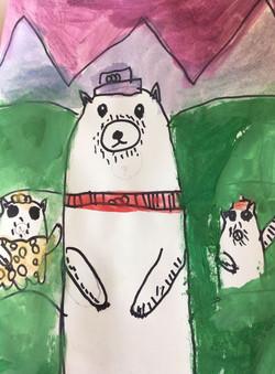 Background/Foreground Polar Bears
