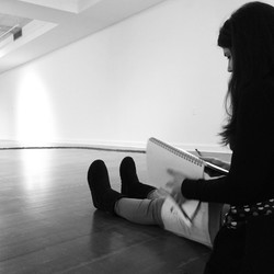 Drawing in the Gallery
