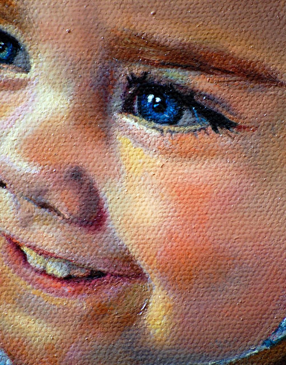 "detail of ""Olivia"" 5"" x 7"" oil"