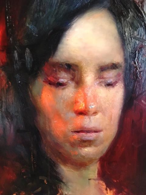 Steven Assael painting during Armory Art Center workshop
