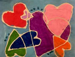 Heart Batik