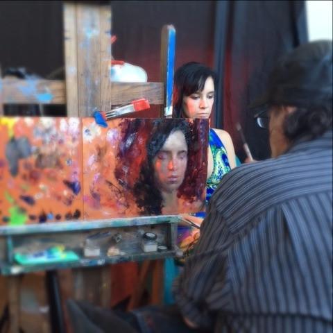 Steven Assael demoing at the Armory Art Center