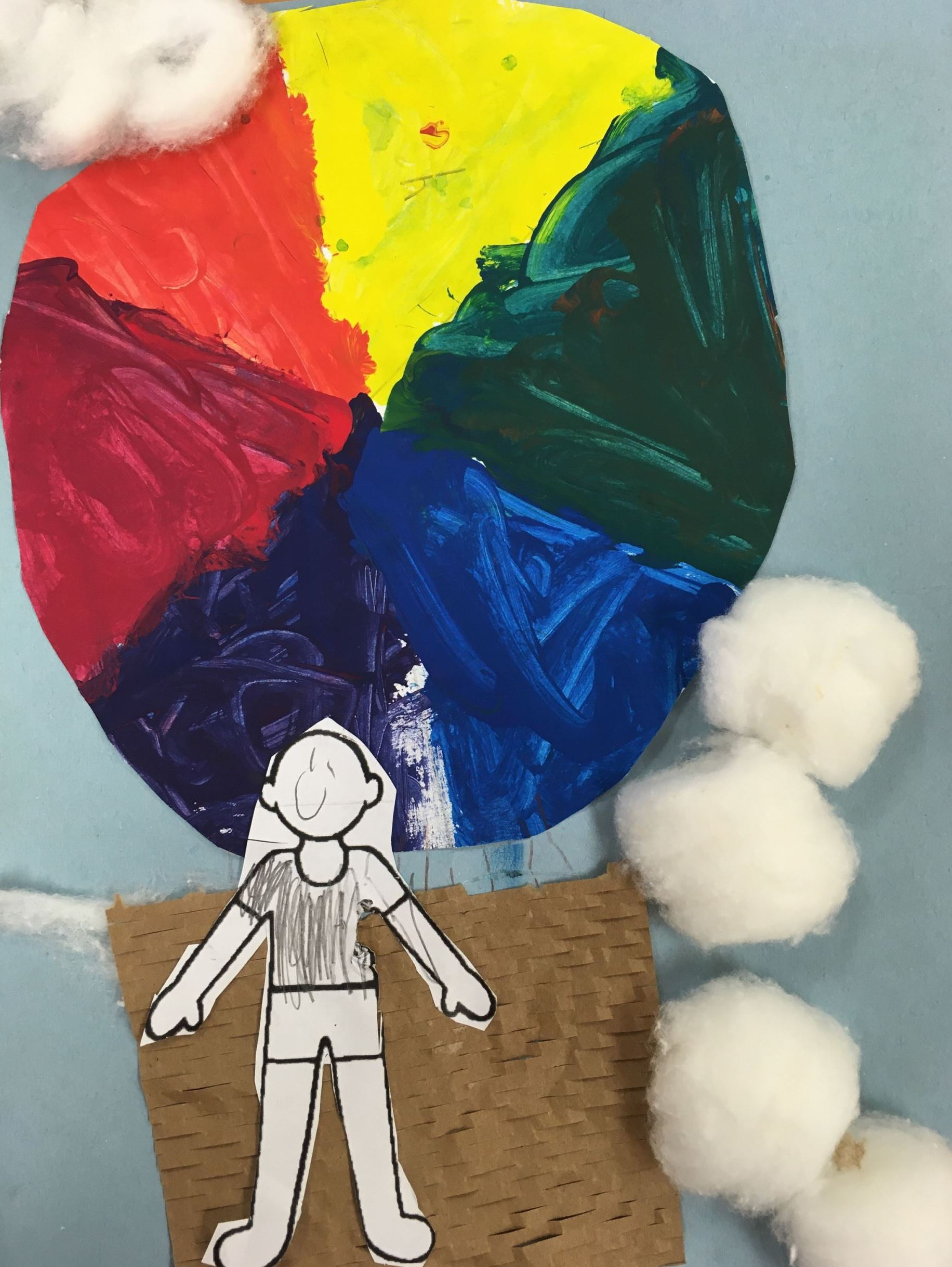 Color Wheel Hot Air Balloons