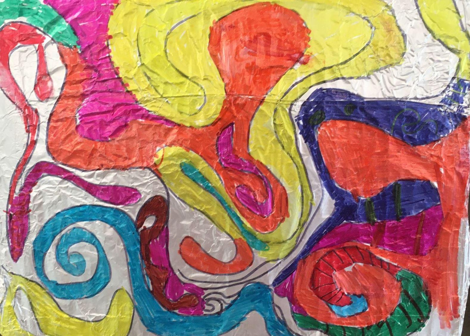 Tin Foil Sharpie Doodles