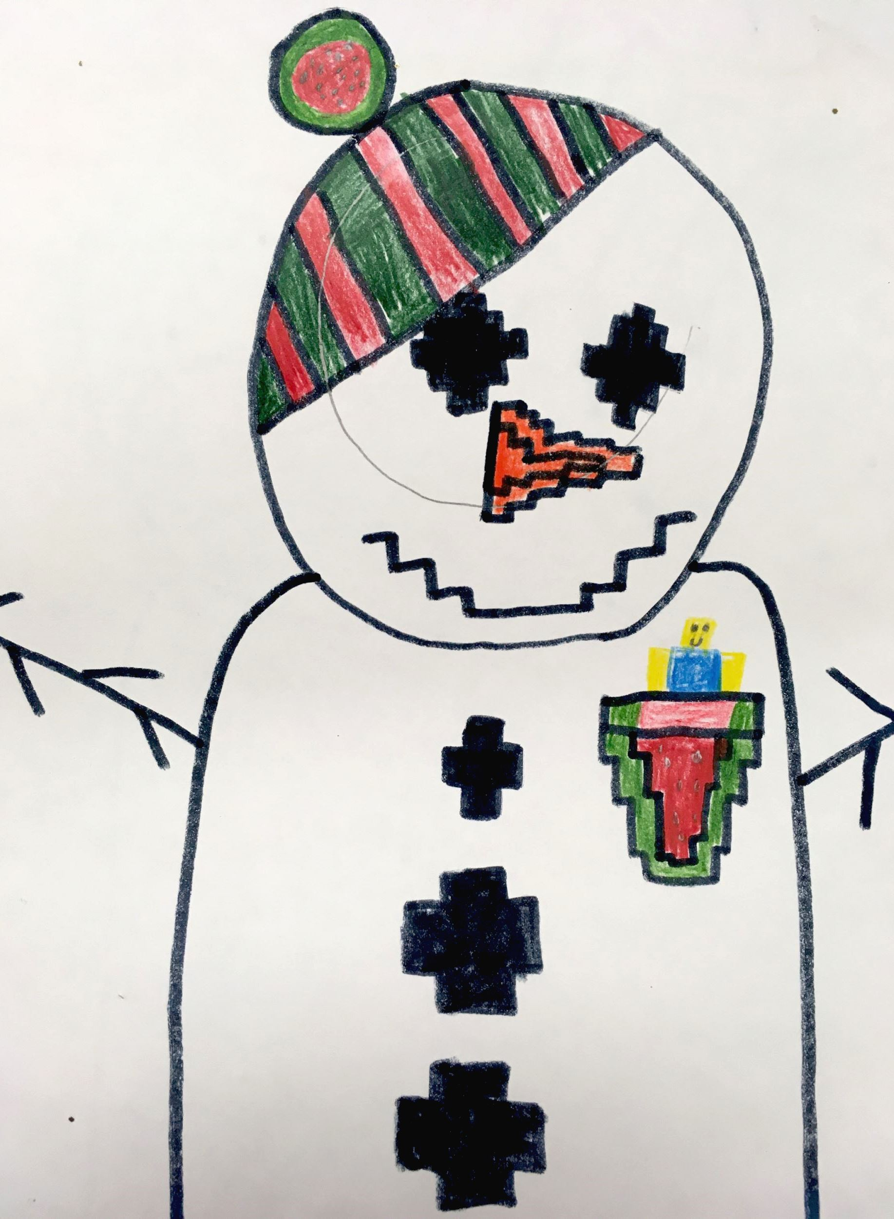 Complimentary Color Snowman