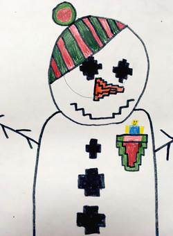 Complimentary Color Snowman
